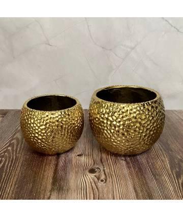 Gold Round Pot