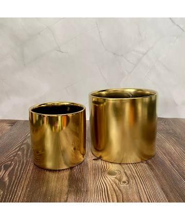 Gold Circular Pot