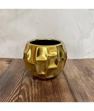 Gold Textured Pot