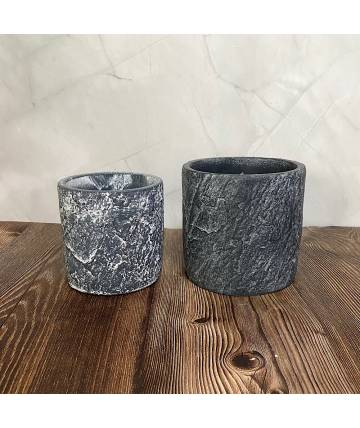 Grey Stone Pot