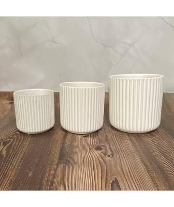 White Round Pot